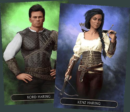 Fantasy Character Cards